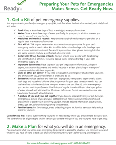 FEMA Preparing Your Pets For Emergencies