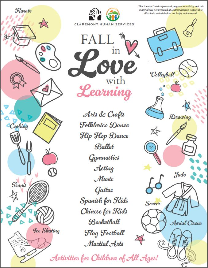 Fall in Love with Learning Flyer