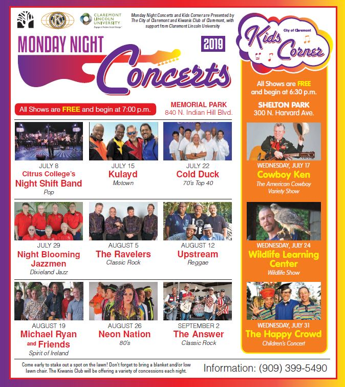 Monday Night Concerts 2019